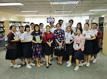 นักศึกษาสาขาการจัดการท่องเที่ยวเยี่ยมชมกองบรรณสารและห้องสมุด กระทรวงการต่างประเทศ   เพื่อสืบค้นข้อมูลที่เกี่ยวข้องกับประเทศไทยและประชาคมอาเซียน