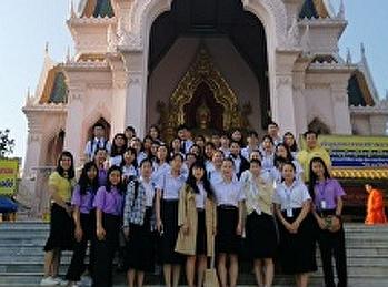 สาขาการจัดการท่องเที่ยวนำคณะนักศึกษาจีนจากมหาวิทยาลัย Guilin University of Aerospace Technology ทัศนศึกษา ณ จังหวัดนครปฐมและกรุงเทพมหานคร