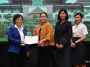 อาจารย์และนักศึกษาสาขาการจัดการท่องเที่ยว วิทยาลัยนานาชาติ เข้าร่วมงานปฐมนิเทศต้อนรับนักศึกษาใหม่ ปีการศึกษา 2562