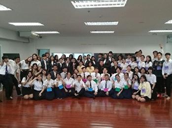 นักศึกษาสาขาการจัดการท่องเที่ยวร่วมพิธีขอขมาอาจารย์เพื่อฝากตนเป็นศิษย์และพิธีการบายศรีสู่ขวัญ ปีการศึกษา 2562
