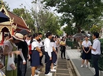 นักศึกษาสาขาการจัดการท่องเที่ยวร่วมกันจัดทัศนศึกษา ณ วัดต่างๆในกรุงเทพมหานคร #วันที่ 1