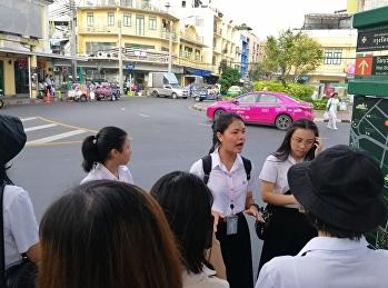 นักศึกษาและอาจารย์สาขาการจัดการท่องเที่ยวร่วมโครงการทัศนศึกษา ณ วัดต่างๆ ในกรุงเทพมหานคร วันที่ 2