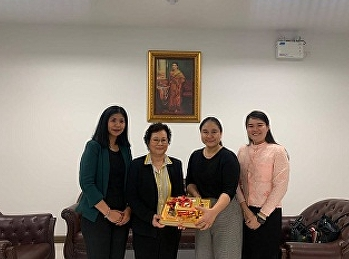Lecturers from Tourism Management offered Gift to the Dean of International College, Suan Sunandha Rajabhat University